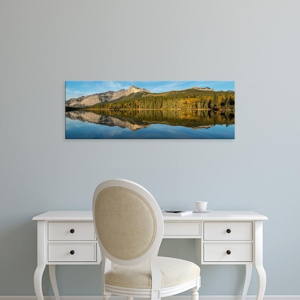 Easy Art Prints Panoramic Images's 'Scenic view of a lake in forest, British Columbia, Canada' Premium Canvas Art