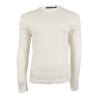 Polo Ralph Lauren Men's Linen Roll-Neck Sweater - wash white