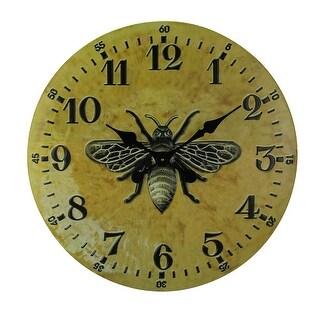 24 Inch Diameter Vintage Finish Metal blebee Wall Clock