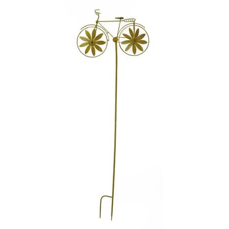 Retro Metal Bicycle Wind Spinner Garden Stake