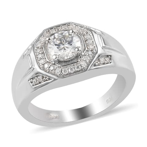 Shop LC 925 Sterling Silver Moissanite Ring Men Size 13 Ct 1