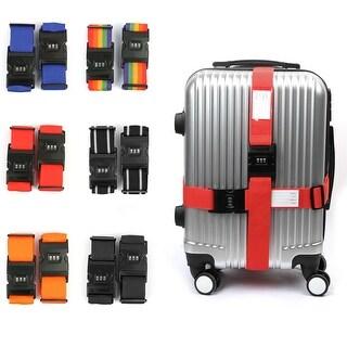 2pcs Adjustable Password Coded Lock Travel Luggage Suitcase Strap