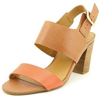 Franco Sarto Gothic Open-Toe Leather Slingback Sandal