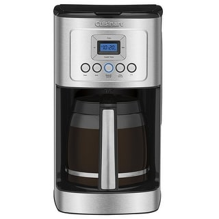 Cuisinart DCC-3200 14-Cup Glass Carafe with Stainless Steel Handle Programmable Coffeemaker, Stainless & Black