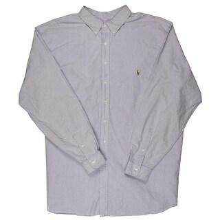 Polo Ralph Lauren Mens Big & Tall Oxford Cotton Button-Down Shirt - 4xlt