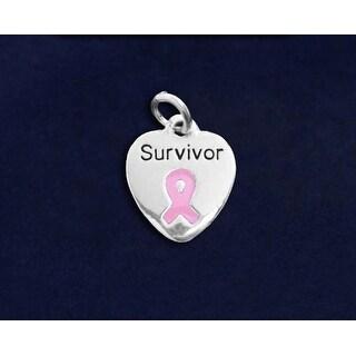 Pink Ribbon Charm- Survivor Charm for Cancer