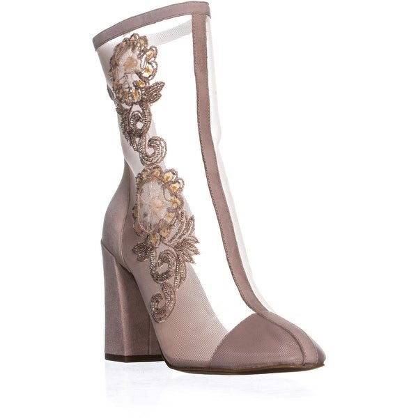 9edc6e7a30 Shop Avec Les Filles Reagan Mesh Ankle Boots, Pink Mesh - On Sale ...