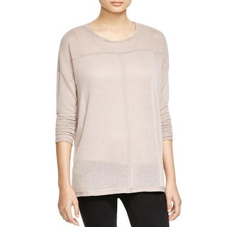 Knot Sisters Womens Casual Top Stretch Open Stitch