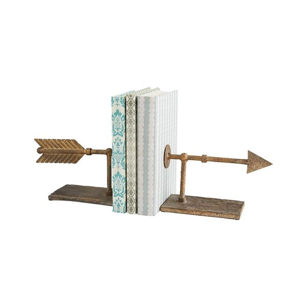 Cyan Design Archer Bookends 5.25 Inch Tall Archer Bookends - Rustic - N/A