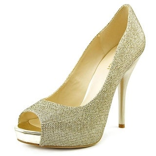 Nine West Sweet Talk Women Peep-Toe Canvas Heels