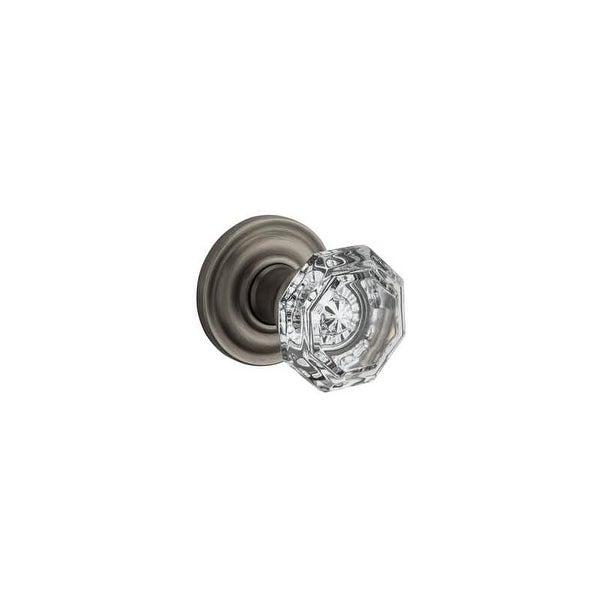 Baldwin PS.CRY.TRR Crystal Passage Door Knob Set With Traditional Round  Trim From