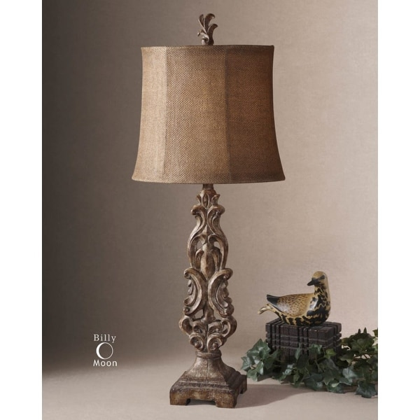 uttermost buffet lamps uttermost 291561 oval semi bell shaded buffet lamp from the gia collection shop