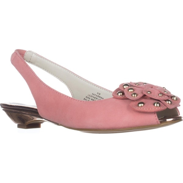 4a14a436ef1 Shop Anne Klein Farrah Slingback Flower Pumps