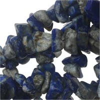 Lapis Lazuli Gemstone Beads, Smooth Chip 6-12mm, 36 Inch Strand