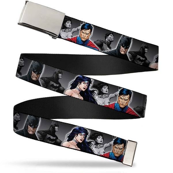 Blank Chrome Buckle Justice League New 52 Wonder Woman Superman Batman Web Belt