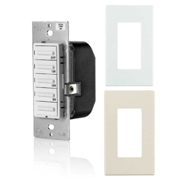leviton decora preset 30 minute countdown timer with snap on wall