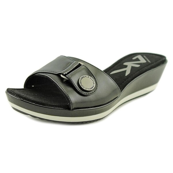 Anne Klein Sport Itemize Women Open Toe Synthetic Slides Sandal