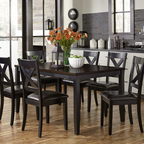 Thornton II Black and Brown 7-Piece Dinette Set