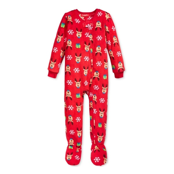 0a9f66adbc4b Shop Family PJs Reindeer Footed Pajamas Printed - Free Shipping On ...