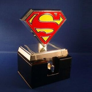 "5.5"" Silver Plated Traditional Style Superman ""S"" Logo Christmas Stocking Holder"