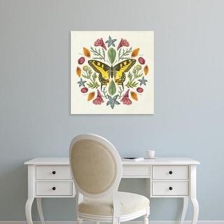 Easy Art Prints Wild Apple Portfolio's 'Butterfly Mandala III' Premium Canvas Art