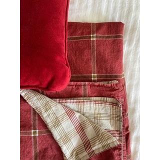 Eddie Bauer Corbett Plaid Red Duvet Cover Set