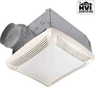 NuTone 763 50 CFM 2.5 Sone Ceiling Mounted HVI Certified Bath Fan with Incandesc