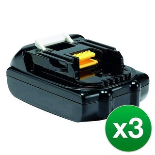 Replacement Battery For Makita BTD140RFE Power Tools - BL1815 (1500mAh, 18V, Lithium Ion) - 3 Pack