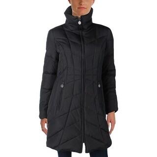 Anne Klein Womens Coat Down Long Sleeves