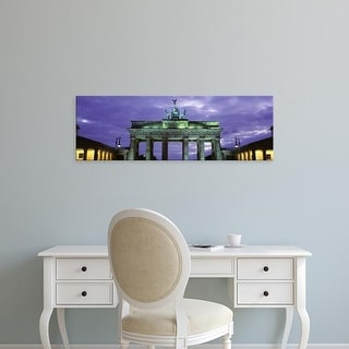 Easy Art Prints Panoramic Images's 'Low Angle View Of The Brandenburg Gate, Berlin, Germany' Premium Canvas Art