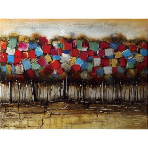 Patchwork Forest Wall Art, Multicolor
