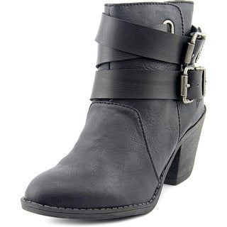 Blowfish Sworn Women  Round Toe Synthetic Black Ankle Boot
