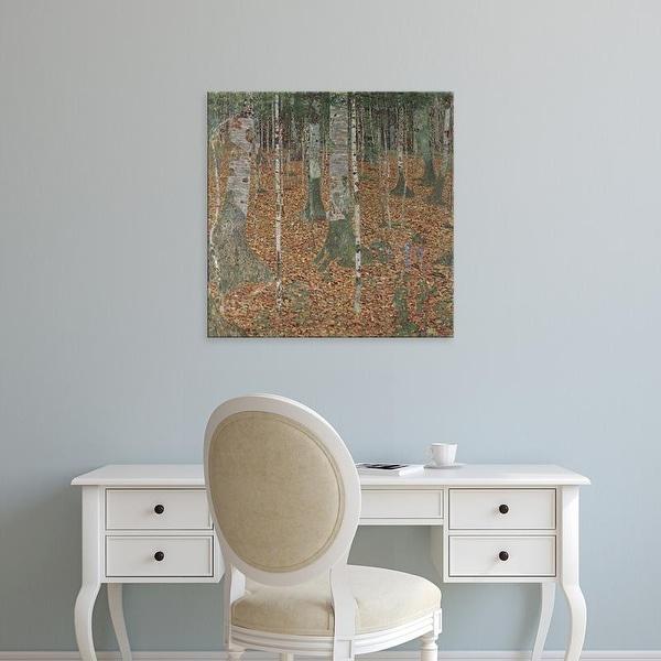 Easy Art Prints Gustav Klimt's 'Birch Forest' Premium Canvas Art