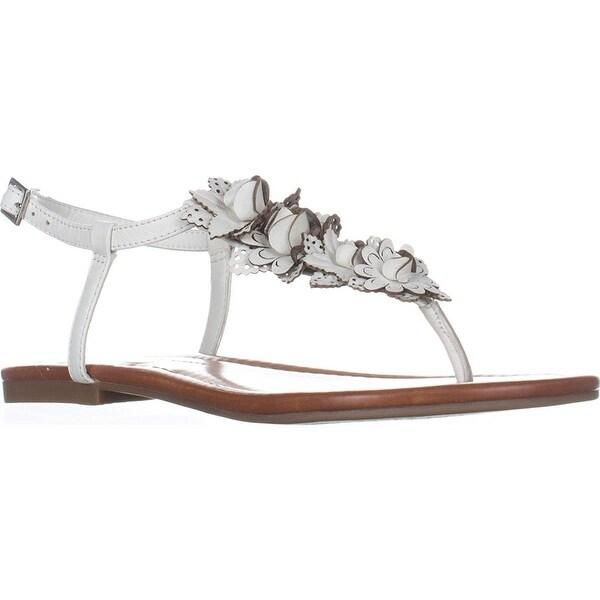 Jessica Simpson Womens Kiandra Leather Split Toe Casual T-Strap Sandals