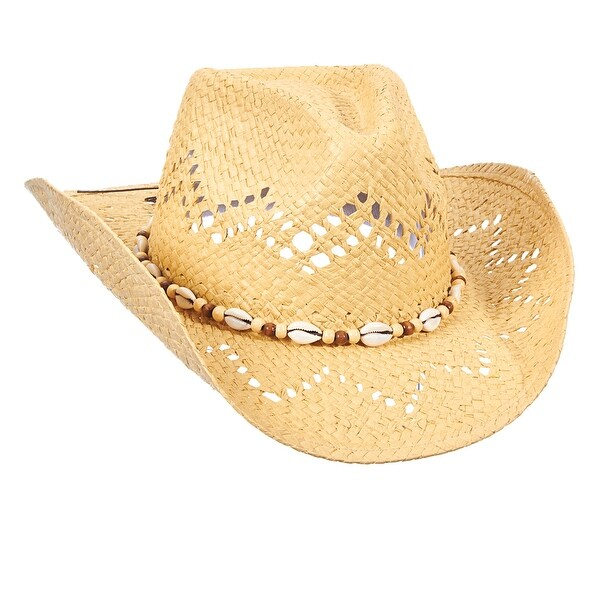 501f68dc22f Dorfman Pacific Women  x27 s Shapeable Toyo Western Cowgirl Hat with Shell  Hatband