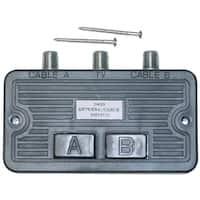 F-pin Coaxial Push Button Switch, 2 Way, 75/75 Ohm