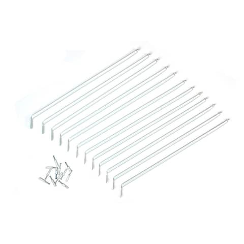 "ClosetMaid 2177500 Express Shelf Support Bracket w/ Anchors, White, 12"", 12-Pk"
