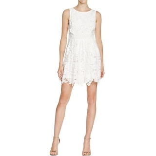 Aqua Womens Party Dress Lace Textured