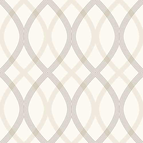 Brewster 2535-20667 Contour Grey Geometric Lattice Wallpaper