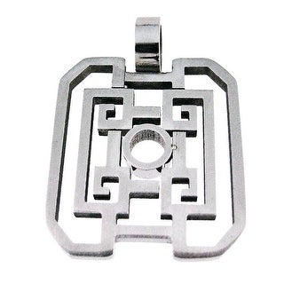 Stainless Steel Open Work Geometric Pattern Pendant