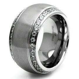 Stainless Steel Embellished Ring