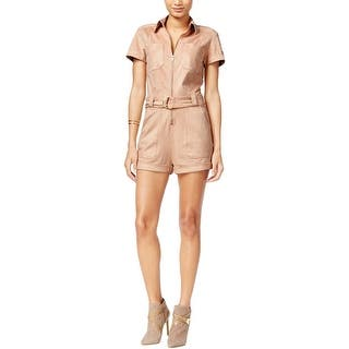 Guess Womens Anja Romper Faux Suede Belted|https://ak1.ostkcdn.com/images/products/is/images/direct/4714edfe2045ba714c5703e27c2e264a74c6a337/Guess-Womens-Anja-Romper-Faux-Suede-Belted.jpg?impolicy=medium