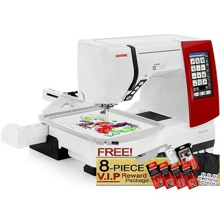 Janome Memory Craft 9900 Computerized Sewing and Embroidery Machine + 5-Piece VIP Package