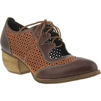 L'Artiste by Spring Step Women's Gabriel Wing Tip Brown Leather