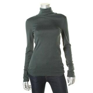 Splendid Womens Micro Modal Long Sleeve Turtleneck Top