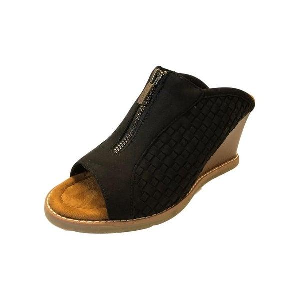 Bearpaw Casual Shoes Womens Nina Wedge Sandal Slip On Suede