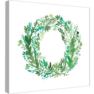 """PTM Images 9-99025  PTM Canvas Collection 12"""" x 12"""" - """"Wreath 6"""" Giclee Holiday Art Print on Canvas"""