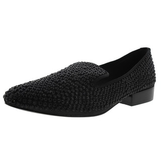 Dolce Vita Womens Embellished Satin Smoking Loafers