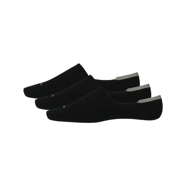 Calvin Klein Mens No Show Socks 3PK Moisture Wicking