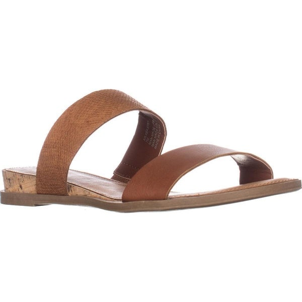 AR35 Easten Flat Two Strap Sandals, Brown